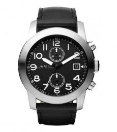 Marc Jacobs Black Larry Chronograph Watch