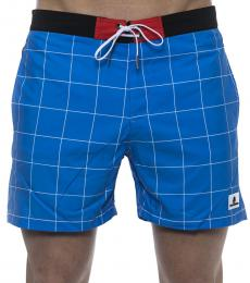 Karl Lagerfeld Blue Logo Patch Swimshorts