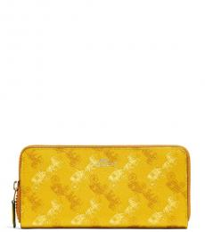 Coach Yellow Horse And Carriage Accordion Wallet