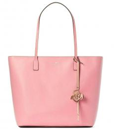 Kate Spade Pink Karla Flower Dangle Large Tote