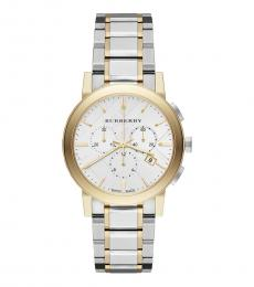 Burberry Silver-Gold Two-Tone Watch