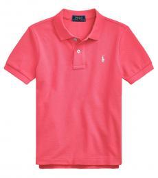 Ralph Lauren Little Boys Hot Pink Mesh Polo