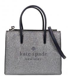 Kate Spade Dusky Navy Trista Glitter Small Tote