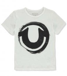 True Religion Boys White Graphic Logo T-Shirt