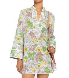 Tory Burch Multi Color Floral Print Cotton Tunic