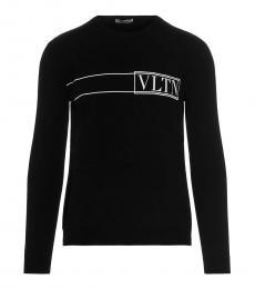 Black Front Logo Sweater