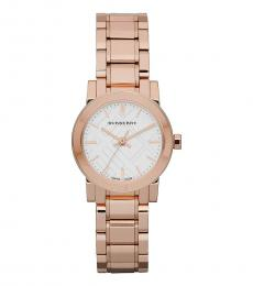 Burberry Rose Gold White Dial Watch