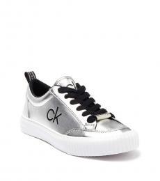 Calvin Klein Silver Clariss Logo Sneakers
