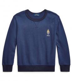 Ralph Lauren Little Boys Patriot Blue Terry Sweatshirt