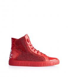 Philipp Plein Red High Top Sneakers