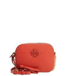 Tory Burch Orange McGraw Small Crossbody Bag