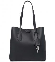 Black North/South Large Tote