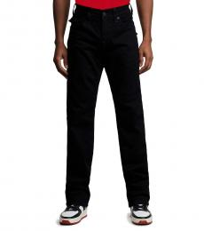 True Religion Black Ricky Straight Jeans