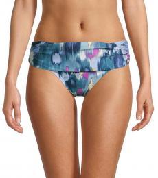DKNY Bali Blue Foldover Bikini Bottom