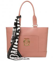 Love Moschino Pink Logo Large Tote