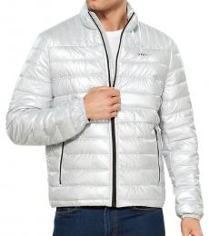 Pearlized Grey Dawn Packable Puffer Jacket