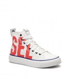 Diesel White High Top Sneakers
