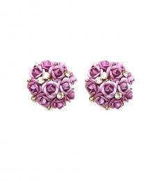 Lavender Rose Bouquet Earrings