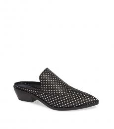 Rebecca Minkoff Black Star Leather Mules