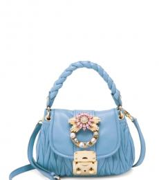 Miu Miu Light Blue Bandoliera Mini Satchel