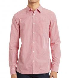 Calvin Klein High Risk Red Gingham Slim-Fit Shirt