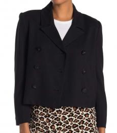 Diane Von Furstenberg Black Double Breasted Blazer