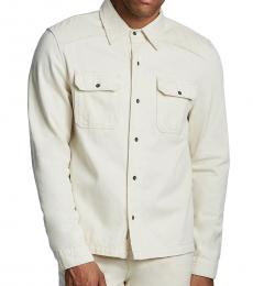 True Religion Ecru Denim Shirt Jacket