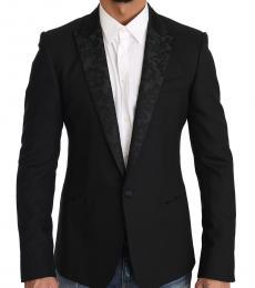 Black Wool Martini Slim Blazer