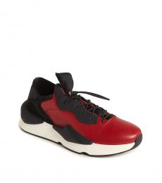 Karl Lagerfeld Red Leather Low Sneakers