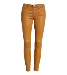 AG Adriano Goldschmied Mustard Canvas Legging Ankle Jeans