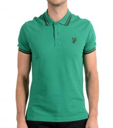 Versace Jeans Green Short Sleeve Polo