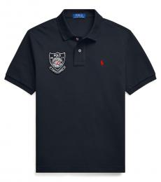 Boys Black Lunar New Year Polo