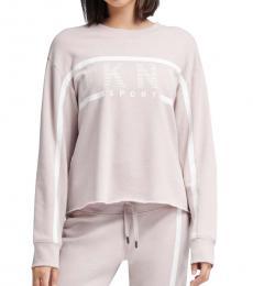 DKNY Light Pink Stripe Logo Sweatshirt
