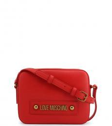 Red Box Solid Medium Crossbody
