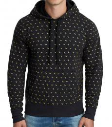 Black Monogram Pullover Sweatshirt
