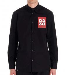 Dsquared2 Black Logo Patch Shirt