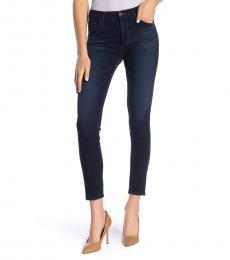Dark Blue Farrah Ankle Skinny Jeans