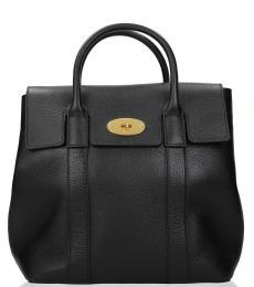 Mulberry Black Turnlock Medium Backpack