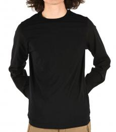 Black Long Sleeve Slim Fit T-Shirt