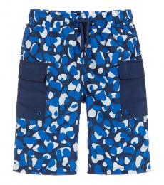 Little Boys Blue Swim Shorts