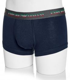 Emporio Armani Dark Blue Cotton Boxer Trunk Briefs