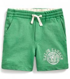 Ralph Lauren Little Boys Raft Green French Terry Shorts
