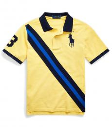Boys Oasis Yellow Big Pony Banner Polo