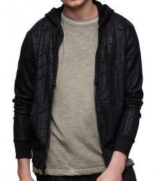 True Religion Black Allover Print Zip Hoodie