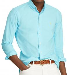 Ralph Lauren Harmmond Blue Slim Fit Oxford Shirt