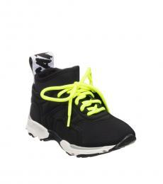 Stella McCartney Boys Black Neon Sneakers