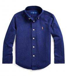 Ralph Lauren Little Boys Newport Navy Cotton-Blend Shirt