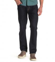 AG Adriano Goldschmied Navy Blue Ives Straight Jeans