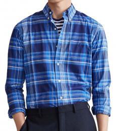 Ralph Lauren Royal Blue Classic Fit Plaid Shirt