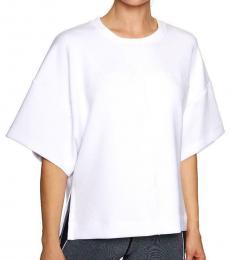 White Cut-Off Lounge Sweatshirt